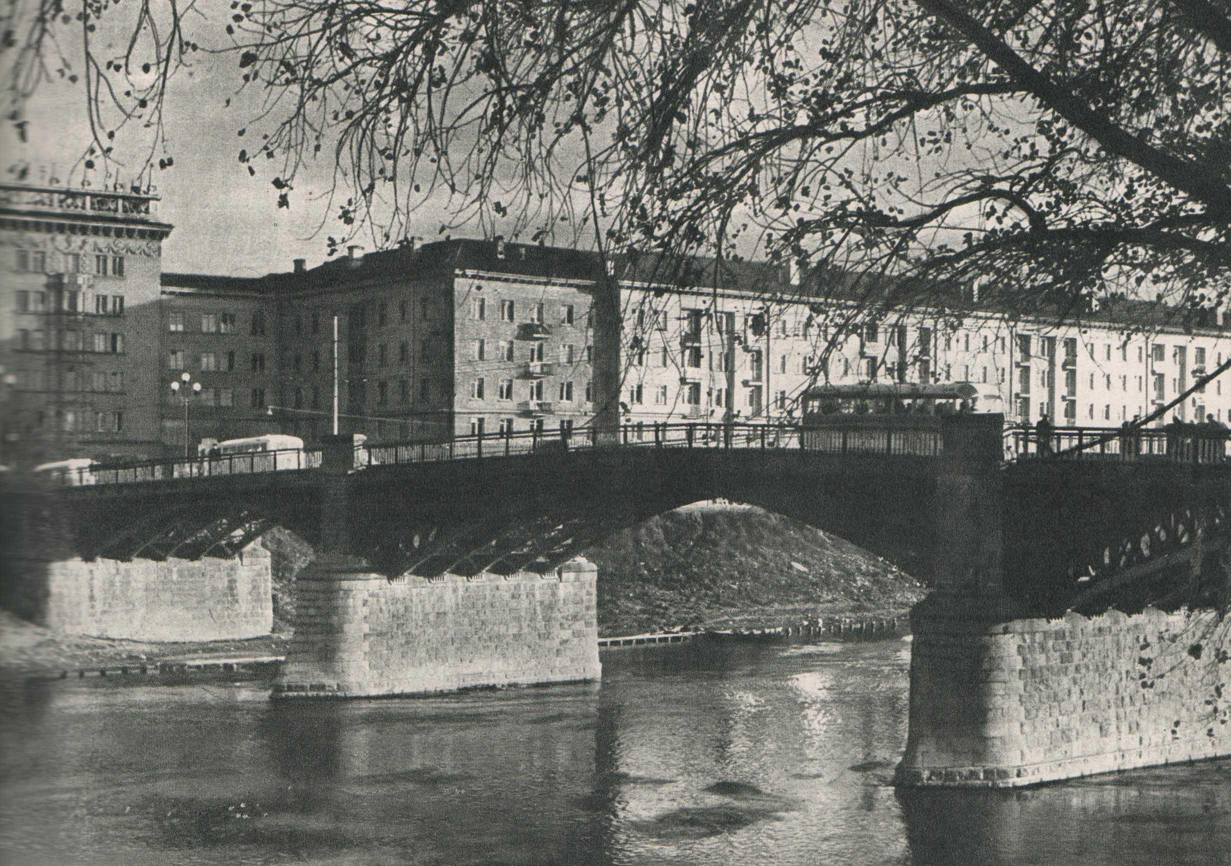 Vilnius, Žvėryno tiltas, sena nuotrauka