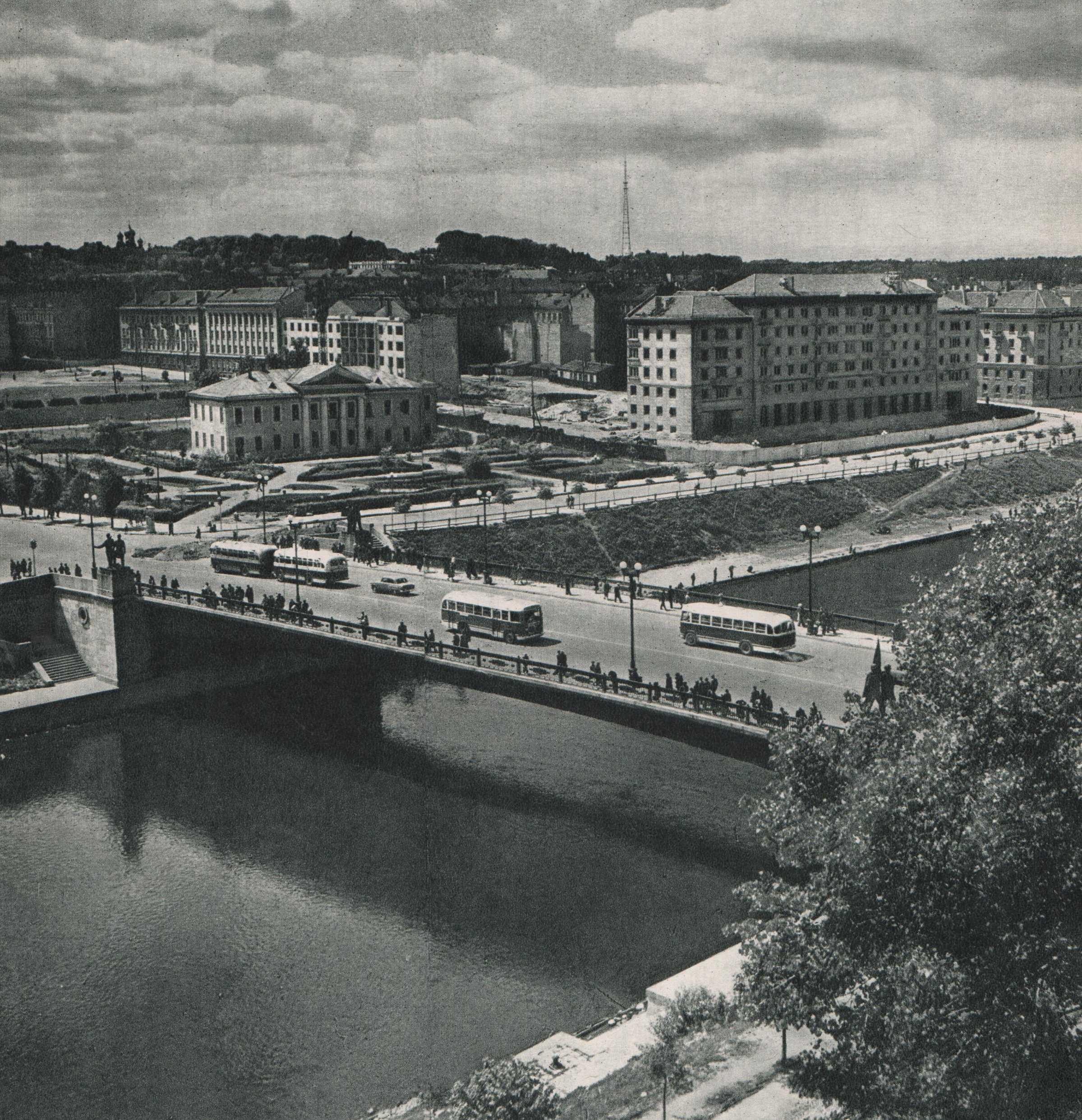 Vilnius, Žaliasis tiltas, sena nuotrauka