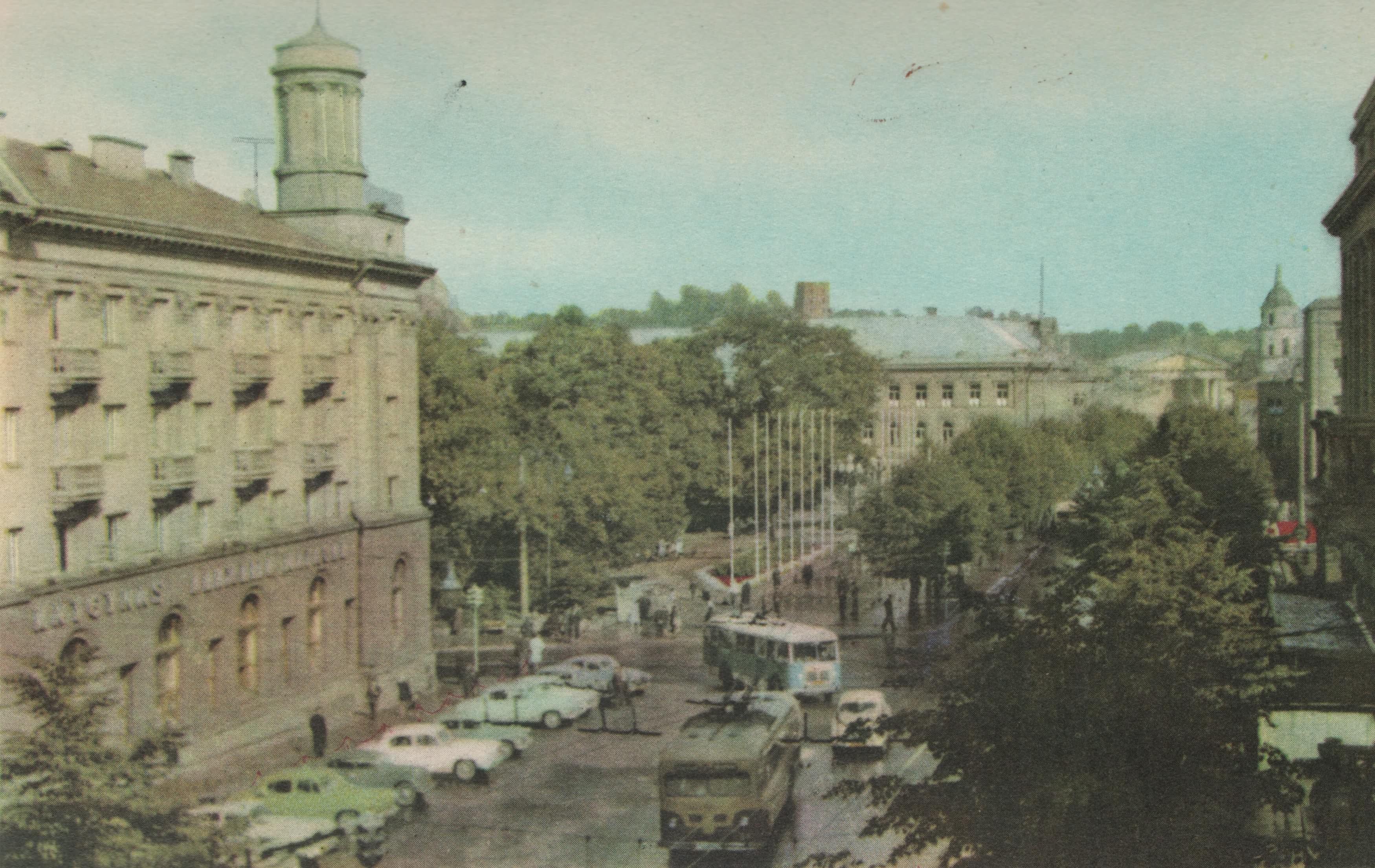 Vilnius, Gedimino pr. 13, sena nuotrauka
