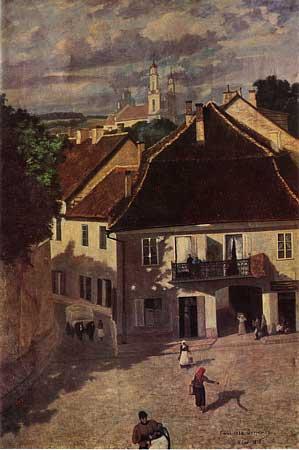 Vilnius, M. Daukšos g. 2, sena nuotrauka