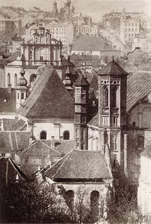 Vilnius, J. Basanavičiaus g. 27, sena nuotrauka