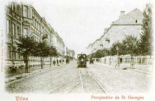 Vilnius, Gedimino pr. 10, sena nuotrauka