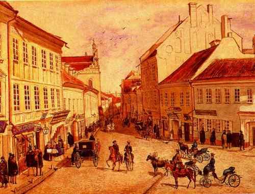 Vilnius, Pilies g., sena nuotrauka