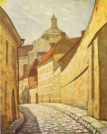 Vilnius, Šv. Ignoto g., sena nuotrauka