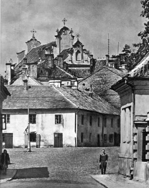 Vilnius, K. Sirvydo g. 6, sena nuotrauka