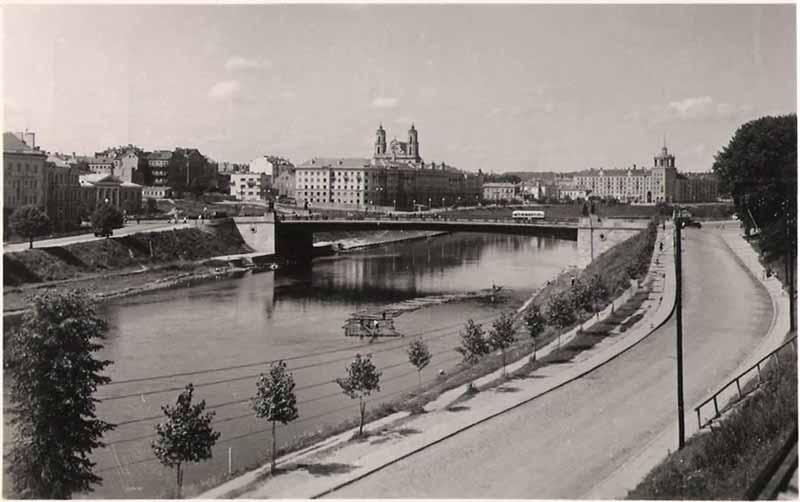 Vilnius, A. Goštauto g. 1, sena nuotrauka